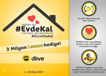 DLive ile #EvdeKal Kampanyası Duyuruldu