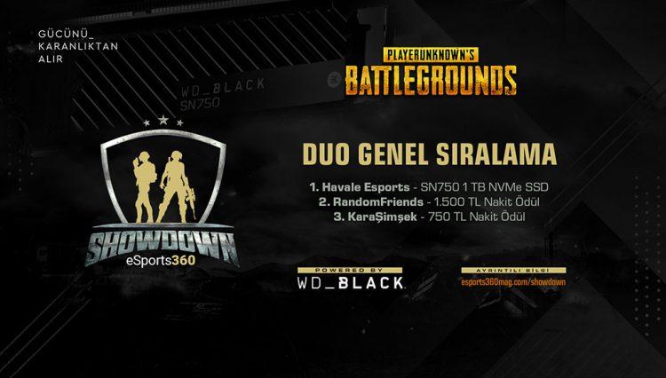 WD Black ile eSports360 SHOWDOWN Tamamlandı