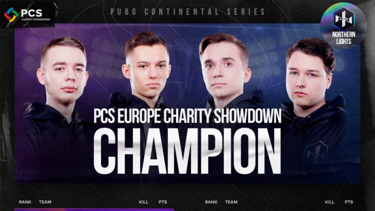 PCS Europe Charity Showdown Avrupa Büyük Finallerini Şampiyonu Northern Lights