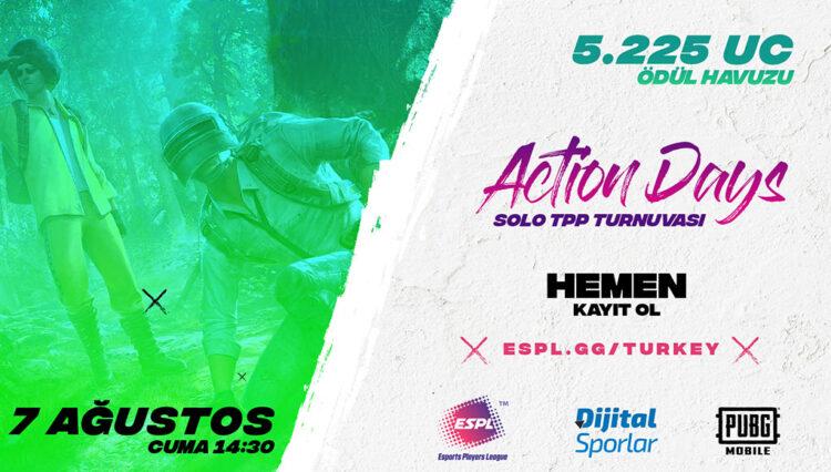 ESPL Turkey Action Days #3 PUBG MOBILE Solo Turnuvası Başlıyor