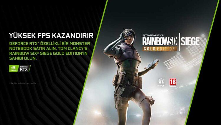 Monster Notebook ve NVIDIA, Rainbow Six Siege Gold Edition Hediye Ediyor