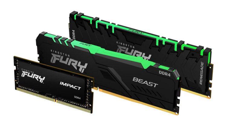 FURY Renegade, Beast ve Impact bellekleri piyasaya çıkıyor