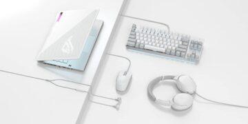 ASUS Republic of Gamers, Moonlight White serisi ürünlerini duyurdu
